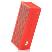 优胜仕 大板砖手机NFC无线蓝牙音响 tf卡插卡FM收音低音双喇叭炮车载便携MP3音箱 经典红
