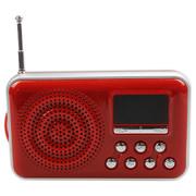 金正 K18(MDT-9960)红色 迷你插卡音箱便携式移动电脑音箱  扩音器 插卡音箱