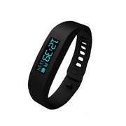 BQBQ 穿戴智能手环 健康睡眠监测 计步器 蓝牙数据传输 智能穿戴  智能手环  时尚影音手环 黑色