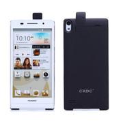 CRDC 华为P6 背夹电池便携充电宝 外置移动电源手机充电器 外置手机移动充电宝 CRAP6-1P 黑色带皮盖