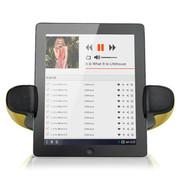 咔哟 战神HERO4.0蓝牙音箱平板电脑蓝牙音响NFC自动配对智能语音支架音响带锂电 土豪金