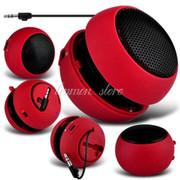 喜木 汉堡包小音箱 迷你可爱MP3笔记本电脑播放器手机音响便携式小喇叭 红色标配+单USB口充电器
