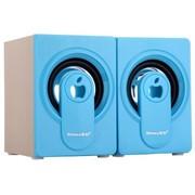 新科 SM-702 多媒体迷你音箱  2.0声道立体声音效输出 (蓝色)