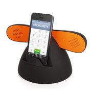 塔悦 防辐射复古电话手机蓝牙听筒 免提 蓝牙耳机无线蓝牙音箱双喇叭带充电  立体声 黑 大底座通用版