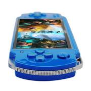 小霸王 Subor掌上PSP游戏机S800 4.3寸屏带摄像头内置海量游戏可下载录音MP5 蓝色4G版本