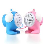 臻晖 SP-1001 蓝牙音响 便携迷你无线音响 低音炮 立体蓝牙小音箱 情侣音箱粉蓝一对