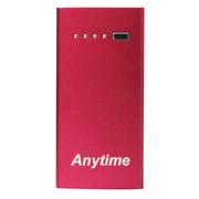 Anytime 移动电源 4400毫安手机移动电源充电宝苹果三星华为htc通用AP-4400 妖娆玫红