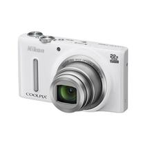 尼康 S9600 数码相机 白色(1605万像素 22倍光学变焦 44倍动态缩放变焦 魔法修饰 wifi)产品图片主图