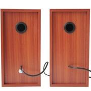 蓝色妖姬 ) S60 全木质音箱 实木音箱 2.0电脑音箱 USB小音箱 带线控 红木纹