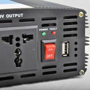 万鸿瑞 12v、24V转220v车载逆变器家用电源转换器电瓶升压器带1P空调2000w升压器 12V小车用