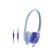 亚力盛 M300i头戴式耳机 线控带麦通话电脑MP3手机立体声重低音彩色可爱耳机 蓝色