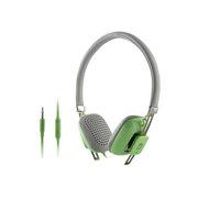 亚力盛 M300i头戴式耳机 线控带麦通话电脑MP3手机立体声重低音彩色可爱耳机 绿色