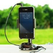 先科 AY-T03 智能手机工作站 多功能车载手机支架 黑色