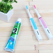 千百媚 DY-08电动牙刷 超声波震动牙刷充电式 自动牙刷 超细软毛 可换头4刷头 蓝色4刷细软毛