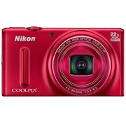 尼康 S9600 数码相机 红色(1605万像素 22倍光学变焦 44倍动态缩放变焦 魔法修饰 wifi)