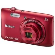 尼康 S3600 数码相机 红色(2005万像素 2.7英寸液晶屏 8倍光学变焦)
