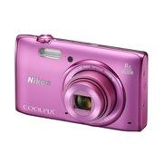 尼康 S5300 数码相机 粉色(1602万像素 3英寸液晶屏 8倍光学变焦)