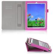 文逸(wenyi) 【送高清膜】Teclast台电P98HD保护套 9.7寸平板电脑超薄皮套 带手托 紫色 直竖纹