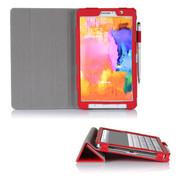 文逸(wenyi) WY 三星Galaxy Tab Pro8.4寸保护套 SM-T320超薄皮套智能休眠保护壳 红色 直竖纹