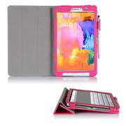 文逸(wenyi) WY 三星Galaxy Tab Pro8.4寸保护套 SM-T320超薄皮套智能休眠保护壳 桃红 直竖纹