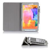 文逸(wenyi) WY 三星Galaxy Tab Pro8.4寸保护套 SM-T320超薄皮套智能休眠保护壳 银灰 直竖纹