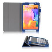 文逸(wenyi) WY 三星Galaxy Tab Pro8.4寸保护套 SM-T320超薄皮套智能休眠保护壳 蓝色 直竖纹