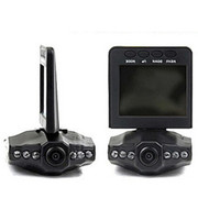 季风岛 汽车行车记录仪黑匣子 车载摄像机 六灯夜视广角高清摄像头 循环录像监控器 带4G内存