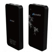 迪诺特(DENOTO) Q7 直插联通SIM卡直插网线 3G无线路由器WiFi移动电源充电宝黑色 10000mAh