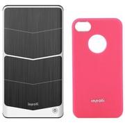 诺拉德(NoRad) iNPOFi 移动无线充电套装 J4101C 玫粉套+钛金灰板 适用于苹果iPhone4/4s