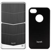 诺拉德(NoRad) iNPOFi 移动无线充电套装 J4102C 黑色套+钛金灰板 适用于苹果iPhone4/4s