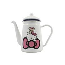 茄宝娜(CheBaona) 正品hello kitty 陶瓷珐琅咖啡壶 奶壶 1.1L 白色产品图片主图