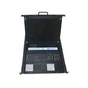 LEZOA 17寸16口单抽拉式LCD KVM四合一LKX716