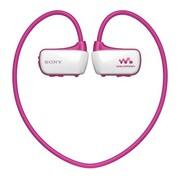 索尼 NWZ-W273S 防滴溅运动式MP3 游泳时可佩戴的Walkman 4G 粉色