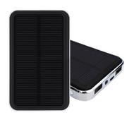 奥鹏(AP) 10000毫安太阳能移动电源充电宝5s 太阳能充电器 苹果小米魅族华为手机通用 银色边框