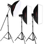 金贝 DPII升级版DPE-400W摄影灯摄影棚摄像灯影室闪光灯三灯套装人像服装影楼专业影像 套餐二