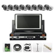 乔安(JOOAN) TC-480DVR-8L 8路 监控设备套装 高清监控器 监控摄像头套餐 带屏DVR