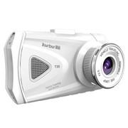 御途 正品T30高清170度广角夜视 1080P行车记录仪 3寸大屏 典雅白 16G卡