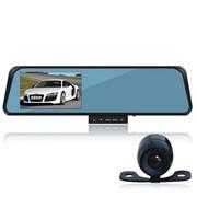 保速捷 K8100 车载后视镜行车记录仪 双镜头 120°广角 高清录影 自动循环 官方标配 无内存卡