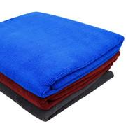 乔氏 加厚纳米100%超细纤维汽车擦车大毛巾160*60cm 打蜡洗车毛巾擦车布,颜色随机 正蓝色