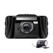君易达 J12双镜头行车记录仪 1080P高清夜视 170度广角迷你记录仪 黑色 标配+后镜头+24小时监控