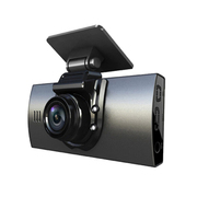 平行线 P268 行车记录仪 双镜头迷你高清广角1080P前后摄像头监控一体机 时尚灰+16G卡送监控线
