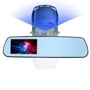 车之魂 后视镜行车记录仪 500万像素 140度高解析度广角 显示屏幕更大 视觉更清晰 16G卡高清版