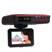 君易达 GH808 安霸方案1080P高清夜视流动固定雷达测速仪 行车记录仪 电子狗一体 安霸方案电子狗一体机+32G卡