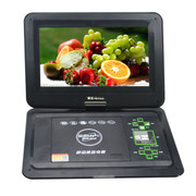 金正 移动DVD 6012 便携式影碟机12.1寸屏带电视高清播放机3D游戏3合1读卡 黑