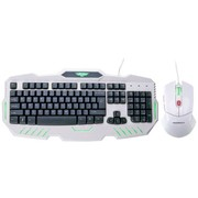 新贵 倾城之恋810 有线发光游戏键鼠套装 白色