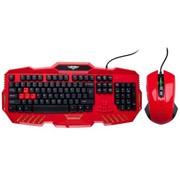 新贵 倾城之恋810 有线发光游戏键鼠套装 红色
