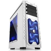 先马 领秀暴雪版 白色游戏机箱(透明侧板/全面防尘/全免工具/读卡器/风扇调速器)
