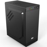 超频三 青梅竹马 迷你机箱 黑色(USB3.0/支持长显卡/SSD位/电源下置/办公机箱)