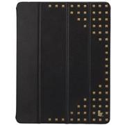 杰森克斯(jisoncase) 苹果iPad2/3/4保护套超强保护 新款朋克风 酷炫铆钉款 经典黑  JS-IPD-12H10