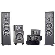 JBL E80BK+ES10BK+ES25CBK+E150PBK+AVR151 5.1家庭影院套装ES系列 (含功放机)黑色